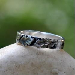 Daragh: Dubový prsten široký - Ag 925/1000