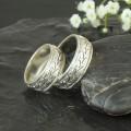 Lístečkové snubní prsteny bílé zlato Au 585/1000 CENA ZA PÁR!